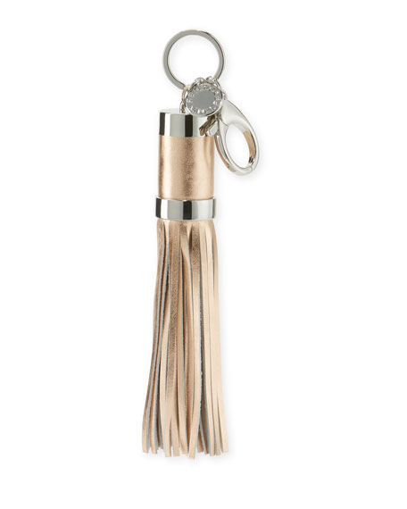 Power Tassel Bag Charm/Key Fob with iPhone Charging Cable, Oyster