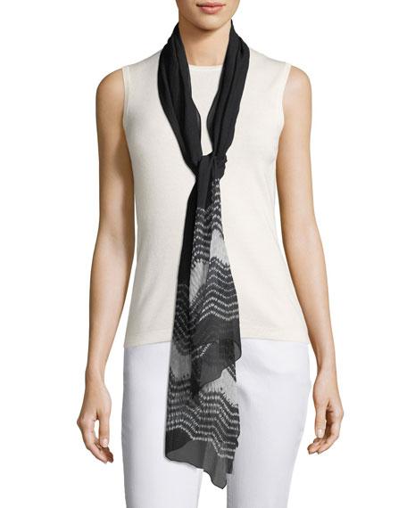 Textured Silk Shibori Scarf