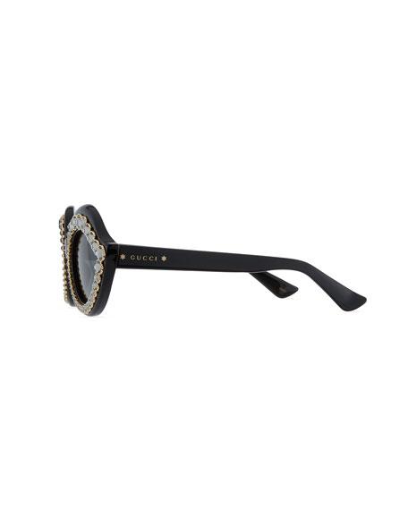 Swarovski® Crystal Monochromatic Cat-Eye Sunglasses