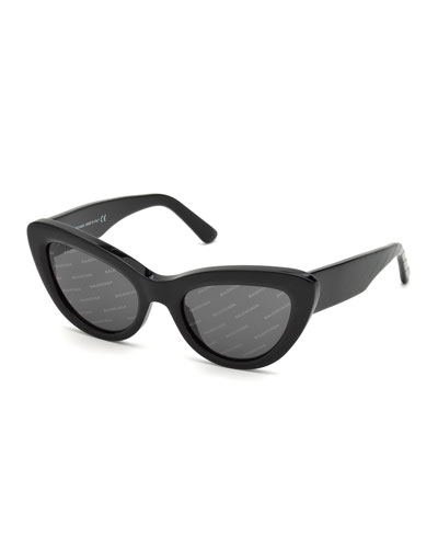 Logomania Acetate Cat-Eye Sunglasses