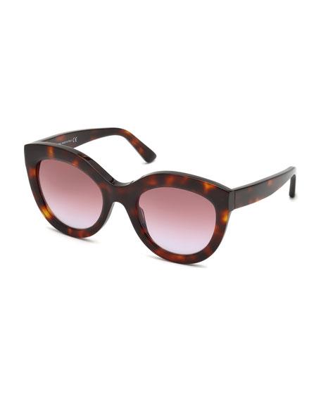 Gradient Oval Acetate Sunglasses