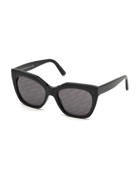 Balenciaga Logomania Square Acetate Sunglasses