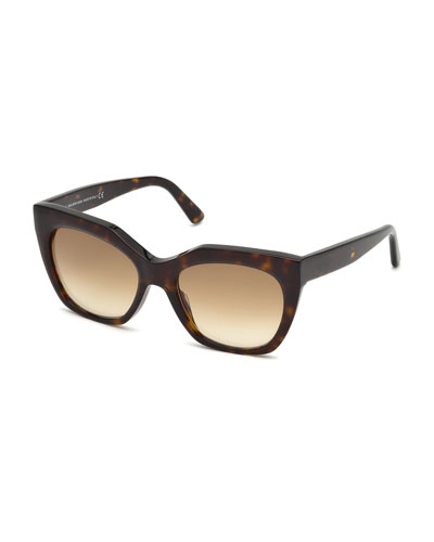 Mirrored Square Acetate Sunglasses