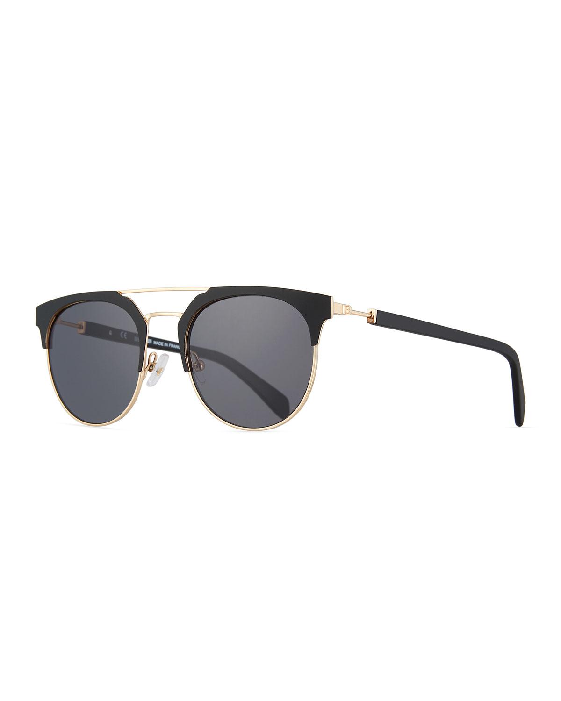 28c6b9bcdf58 Balmain Metal and Acetate Round Sunglasses