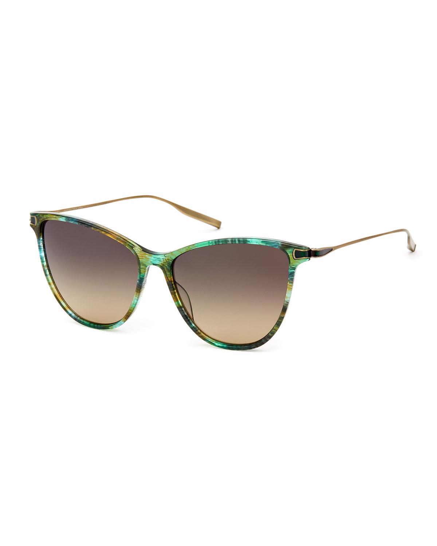 e46d7c4e8c9b1 SALT. Nia Acetate   Titanium Round Sunglasses