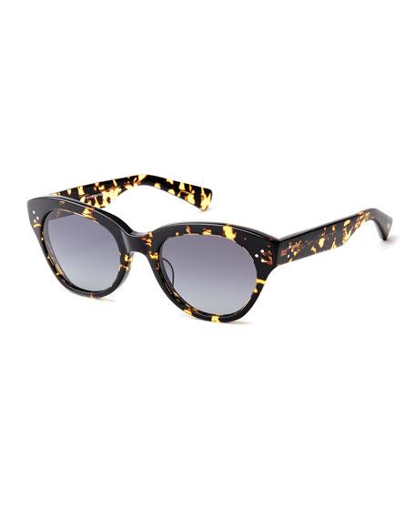SALT. Bobbi Acetate Cat-Eye Polarized Sunglasses
