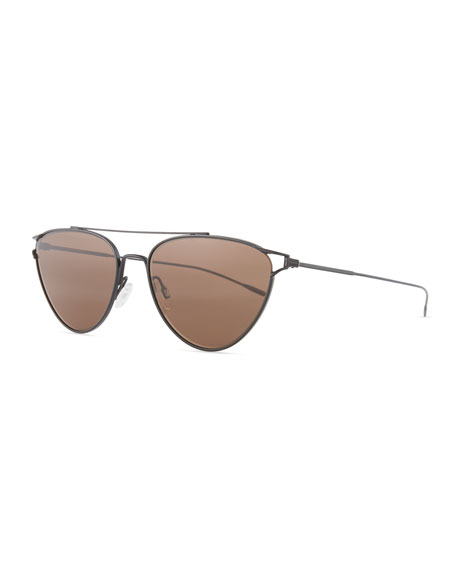 Oliver Peoples Floriana Cat-Eye Metal Sunglasses, Black