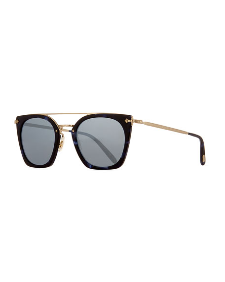 Oliver Peoples Dacette Mirrored Cat-Eye Sunglasses, Black