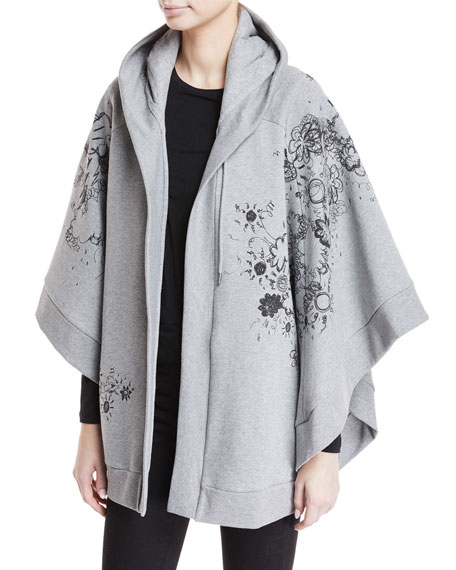 Burberry Scribbles Hooded Poncho