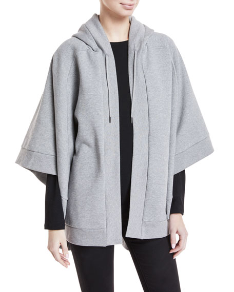 Hooded Cotton-Blend Jersey Poncho