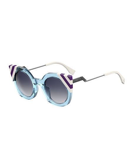 Fendi Round Cat-Eye Sunglasses
