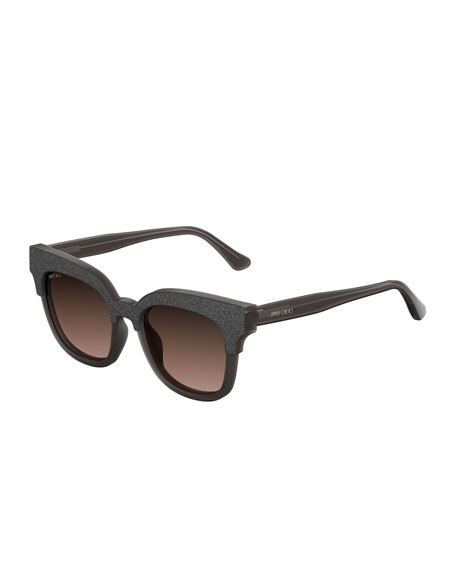 Jimmy Choo Mayela Textured Cat-Eye Sunglasses