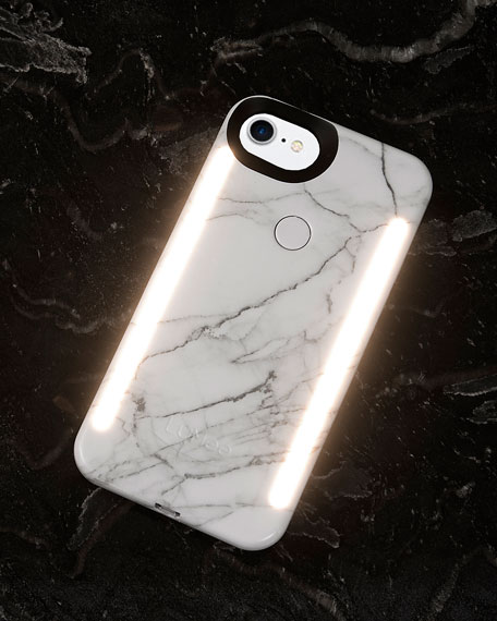 Limited Edition iPhone 8 Photo-Lighting Duo Case, White Marble