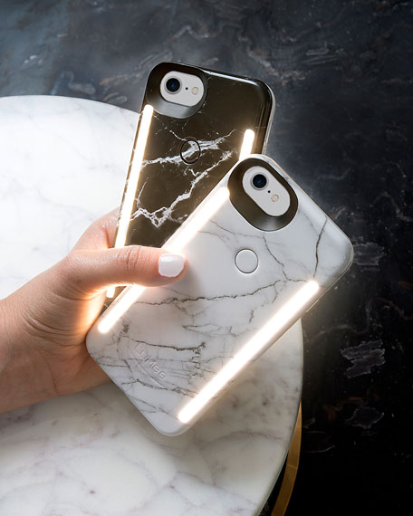 Limited Edition iPhone 8 Photo-Lighting Duo Case, Black Marble