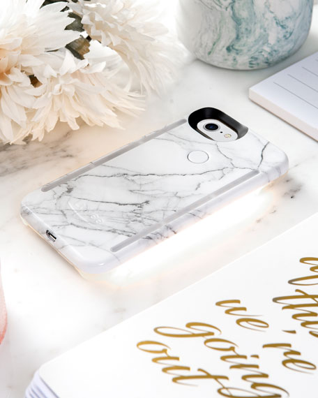 Limited Edition iPhone 8 Plus Photo-Lighting Duo Case, White Marble