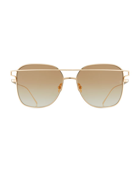 Jesse Illusion Square Metal Sunglasses