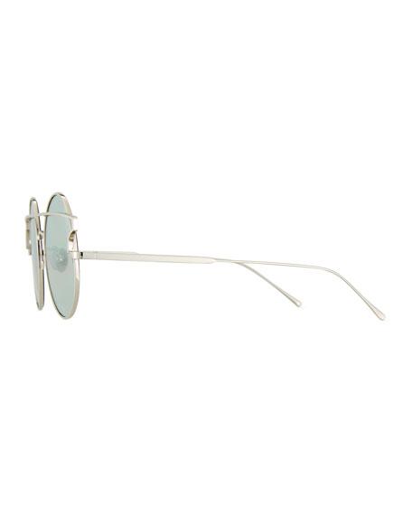 Matilda Illusion Round Metal Sunglasses