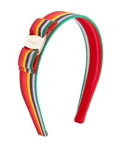 Vara Logo Rainbow Grosgrain Headband