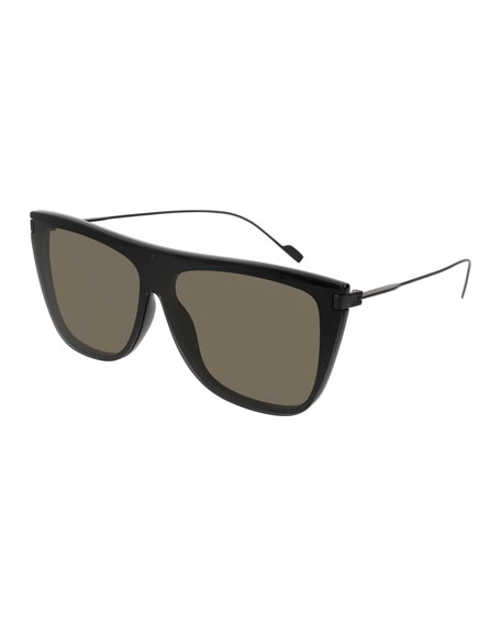Flattop Titanium Rectangle Sunglasses