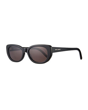 6d40168995 Saint Laurent SL 183 Betty 66mm Acetate Shield Sunglasses