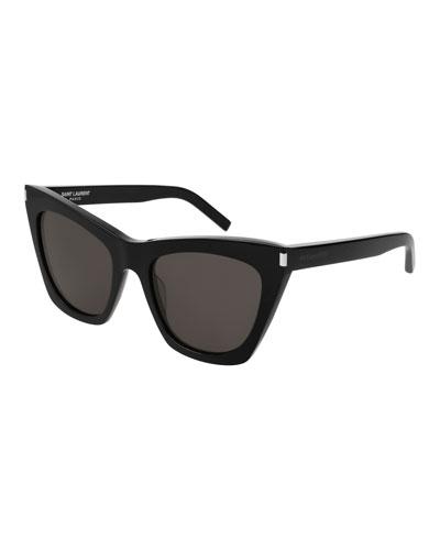 Kate Cat-Eye Acetate Sunglasses, Black