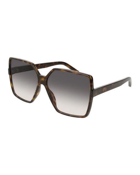 SL 232 Betty Oversized Square Gradient Sunglasses, Brown