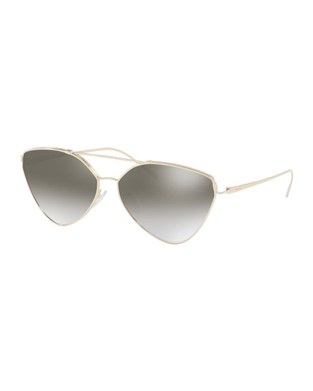 Prada Mirrored Aviator Sunglasses, Gold