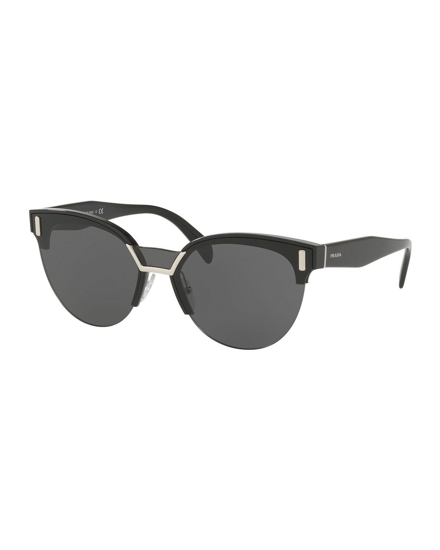 5555703b42b Prada Semi-Rimless Butterfly Sunglasses