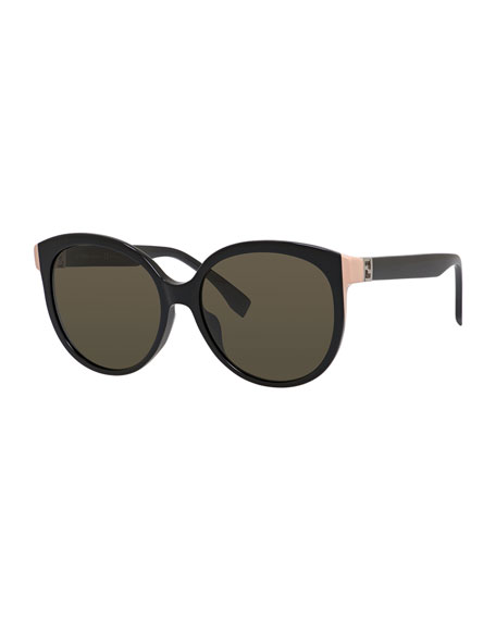 Round Sunglasses w/ Contrast Temples