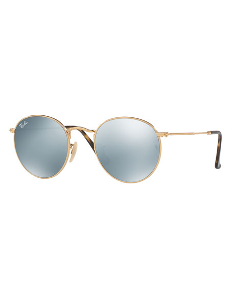 Ray-Ban Icons Round Flash Sunglasses