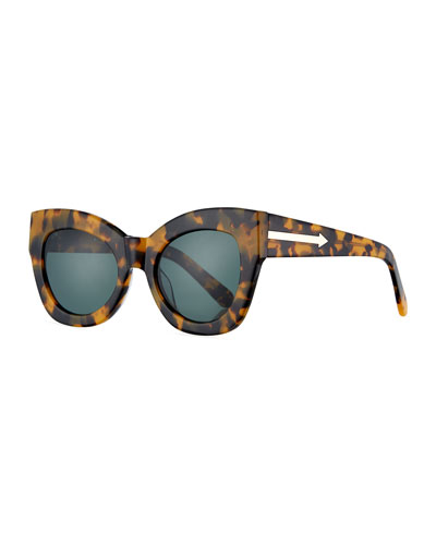 Northern Lights Cat-Eye Sunglasses, Brown