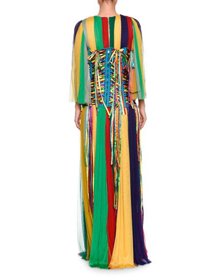 Dolce & Gabbana Rainbow Corset Belt