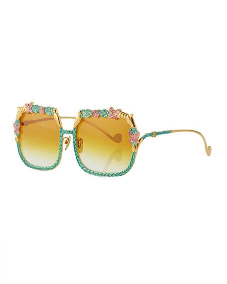 The Garden Square Gradient Sunglasses