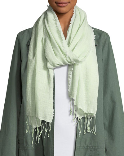 Airy Organic Cotton Shapes Scarf