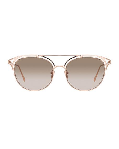 Round Cutout Titanium Sunglasses