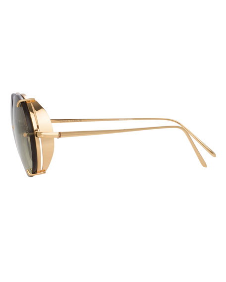 Oval Titanium Sunglasses