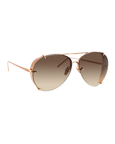 Aviator Gradient Titanium Sunglasses