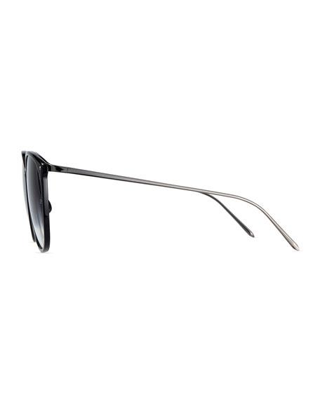 Acetate & Titanium Gradient Butterfly Sunglasses