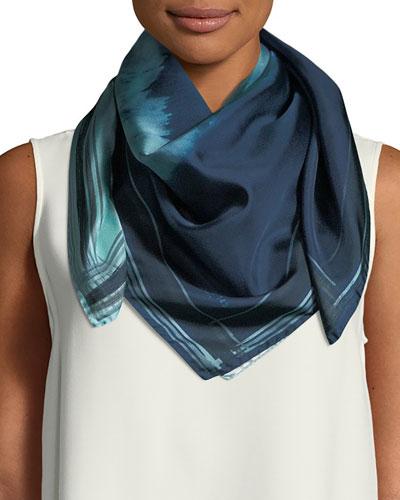 Oasis Ombré Floral Silk Scarf
