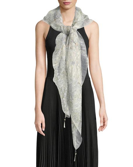 Bombay Silk Scarf w/ Tassels