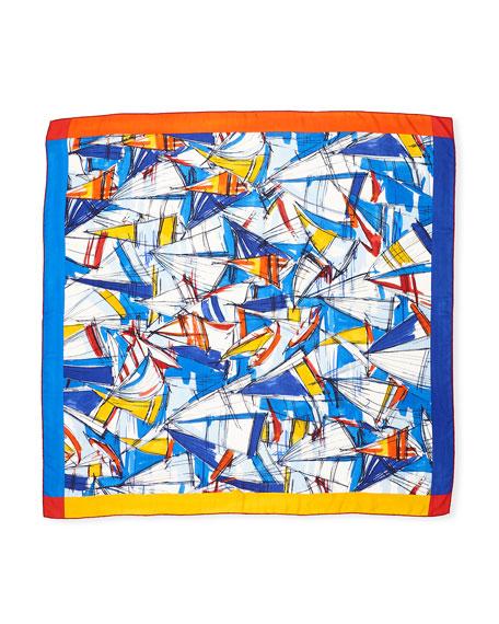 La Giraglia Printed Cashmere/Silk Shawl