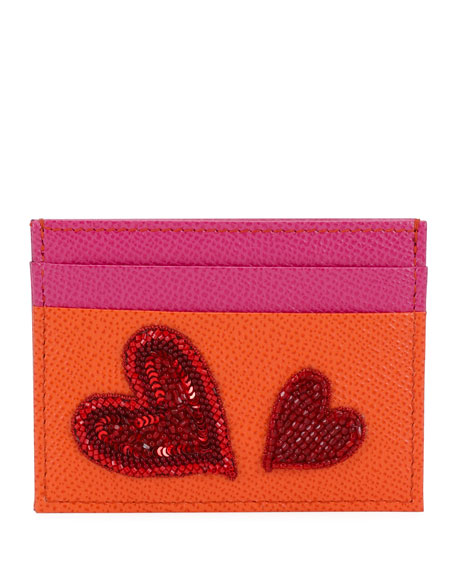 Dolce & Gabbana St. Dauphine Sequine Embroidered Card