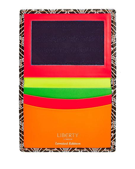 Neon Canvas Travel Card Case