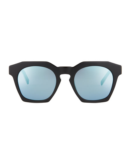 Square Faceted Zyl® Acetate Sunglasses