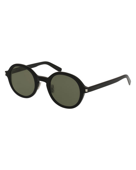 Saint Laurent Round Acetate Sunglasses