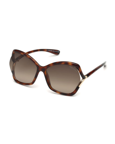 TOM FORD Astrid Gradient Butterfly Sunglasses