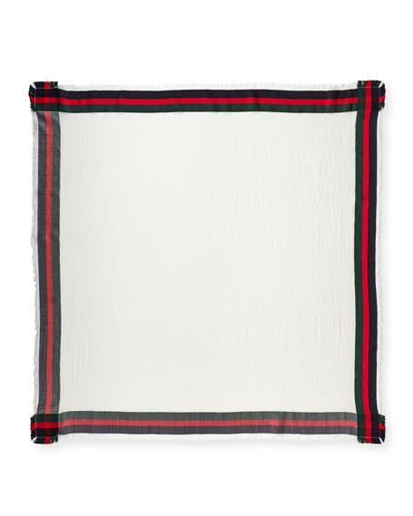 Silk-Wool Web Shawl
