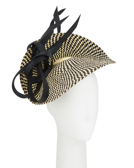 Fernanda Two-Tone Asymmetric Twist Hat