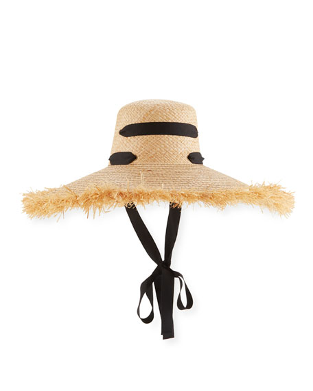 Alpargatas Raffia Straw Hat w/ Ribbon Band