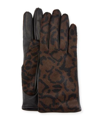 Leather & Calf Hair Gloves